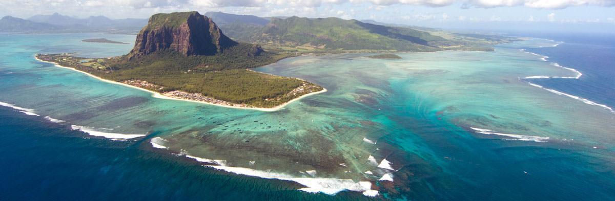 Mauritius Luftaufnahme top Surf-Spot